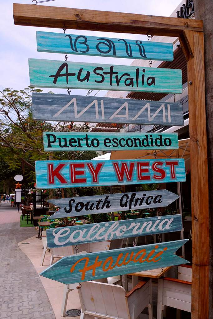 Street Sign Destinations South America