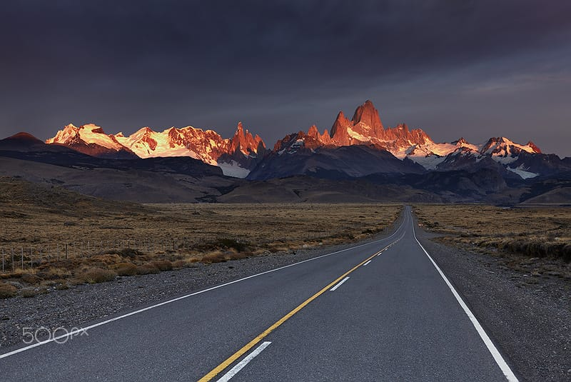 Argentina photographic places Mount Fitz Roy at sunrise