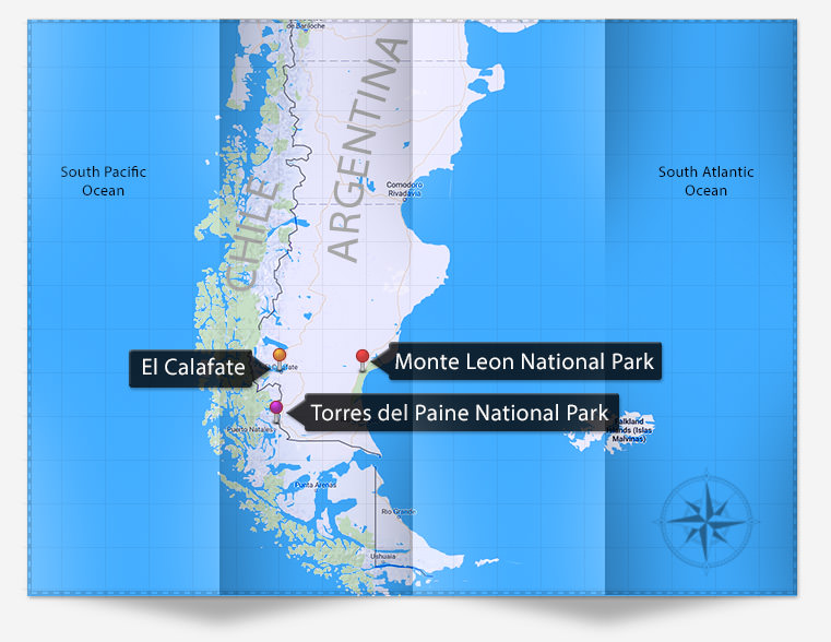 map_Photography_itinerary_Patagonia