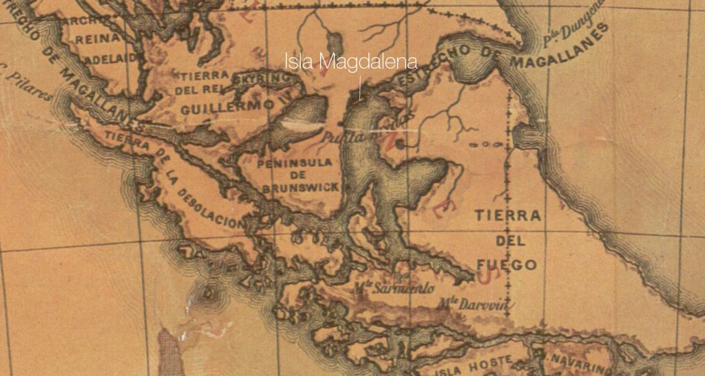 Old map of Southern Patagonia
